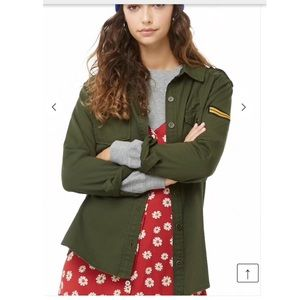 Forever 21 army green long sleeve shirt